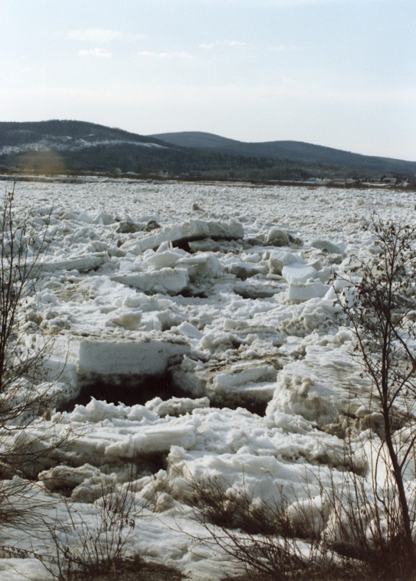 St. John River ice out in1989 somewhere between Fort Kent and Allagash.