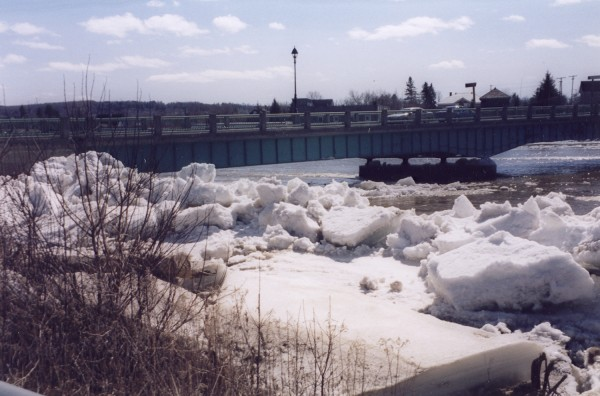 The aftermath of an ice jam in Fort Fairfield in the 1990s.