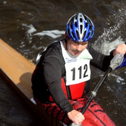 Trevor MacLean of Halifax, Nova Scotia won the 45th annual Kenduskeag Stream Race with the time of 1:59:35.