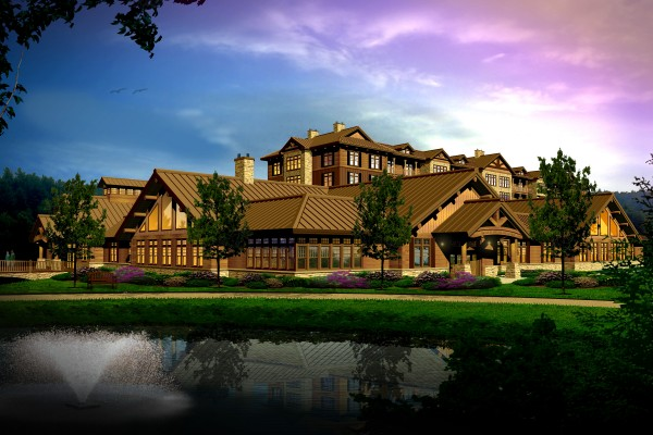 A conceptual rendering of the proposed casino for Oxford County.
