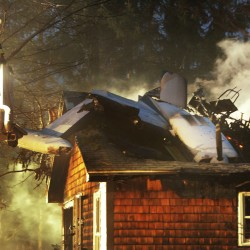Biddeford couple to rebuild after plane hits home