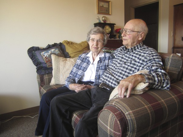 Lawrence and Maurine Michaud, in their Boyd Place apartment.