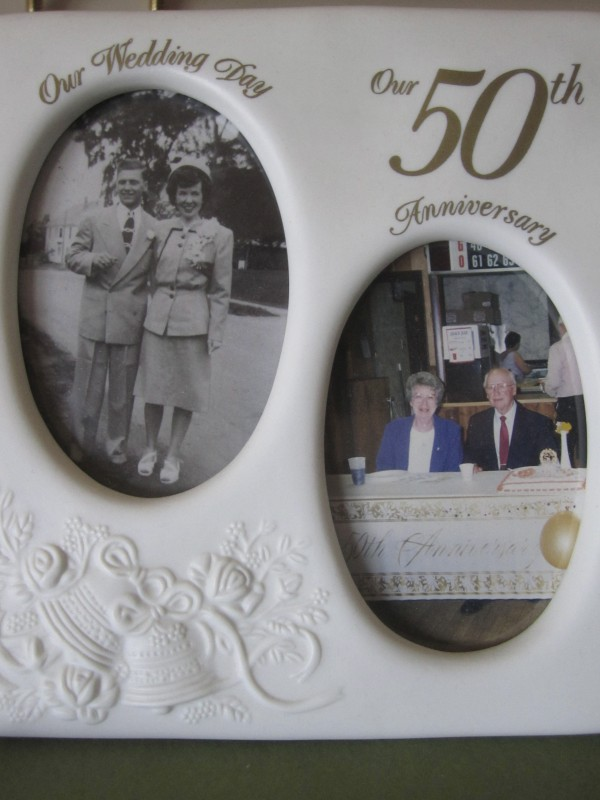 Photos from Lawrence and Maurine's wedding day and their 50th anniversary.  This year they will celebrate their 64th year of marriage.