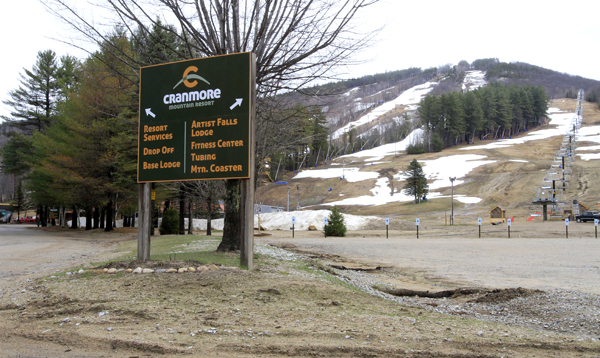 The Mount Cranmore Ski area on Tuesday in Conway, N.H. Authorities are searching for Krista Dittmeyer, who's car was found Saturday morning in the parking lot of the ski area with her baby still inside the car.