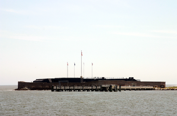When Confederate gunners opened fire on Fort Sumter on April 12, 1861, the brick fort stood three stories tall. Incessant bombardment during the Civil War reduced Fort Sumer to rubble. Now maintained by the National Park Service, the one-story fort is a major tourist attraction at Charleston, S.C.