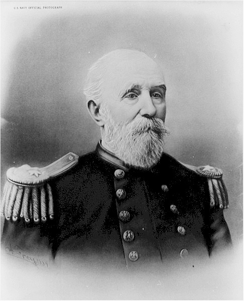 Rear Admiral Thomas Stowell Phelps, 1822-1901.  U.S. Navy Official Photograph. As a lieutenant, he sailed aboard the USS Powhatan in early April 1861 to participate in a relief expedition for Fort Sumter in Charleston, S.C. An order from  President Abraham Lincoln diverted the ship to Pensacola, Fla.