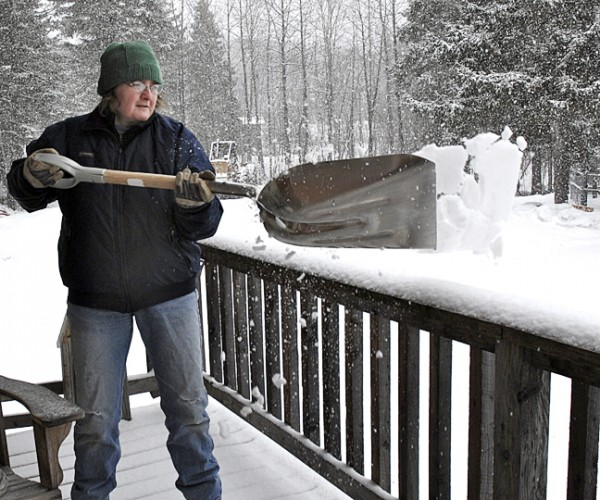 St. John Valley residents were back to shoveling snow Wednesday as a late season snowstorm brought 5.9 inches to Caribou and broke the old record of 3.3 inches for April 20 set in 1978. More snow was reported in other towns with 8 inches in Fort Kent, 9.5 inches in Madawaska, 7.5 inches in St. Francis and 7 inches in Van Buren.