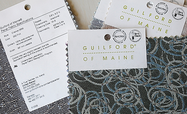 "These environmentally-friendly swatches of recycled polyester manufactured by Guiflord-based fabric manufacturer True Textiles, were shown at Tuesday's press conference at UMO's Foster Center for Student Innovation. Environment Maine announced a new report, ""Safer by Design: Businesses Can Replace Toxic Ingredients through Green Chemistry."""