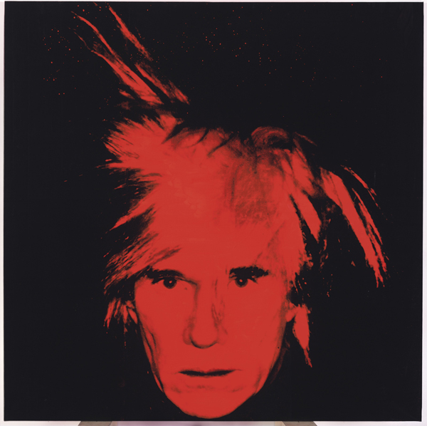 This photo provided by Christie's shows Andy Warhol's 1986 &quotSelf Portrait,&quot which was among the last of his paintings to be exhibited while he was alive. Christie's auction house said Wednesday, April 20, 2011, that it will sell the stark red-on-black &quotSelf-Portrait&quot in New York on May 11. It's estimated to bring up to $40 million.