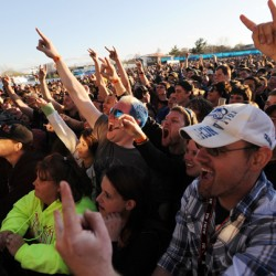 Avalanche concert goers rock out to the heavy metals sounds of Halestorm along the Bangor waterfront on Saturday.