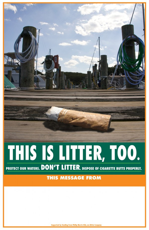 A campaign to reduce cigarette litter at marinas is proving effective and looks to grow.