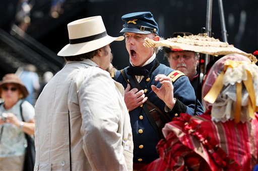 Hours from the bombardment of Fort Sumter, re-enactors tensions run high the commander of the fort has a Confederate sympathizer tossed from the fort.