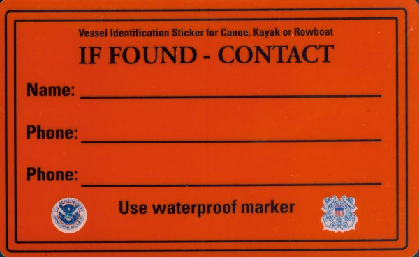 These stickers, provided by the U.S. Coast Guard, should be standard issue for all Maine paddlers.