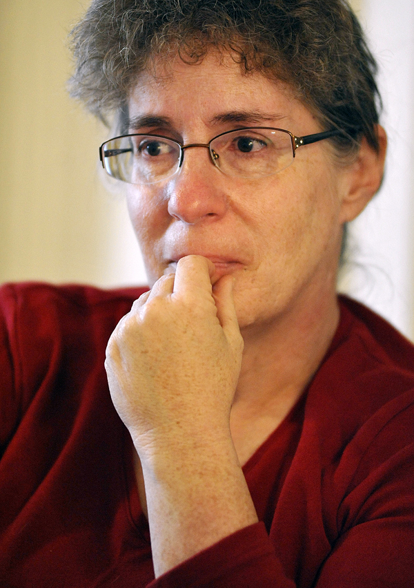 During Tuesday afternoon's interview at her attorney Dale Thistle's law office in Newport Cindy Dunton tears up as she reflected on the choices she has made over the past several years.