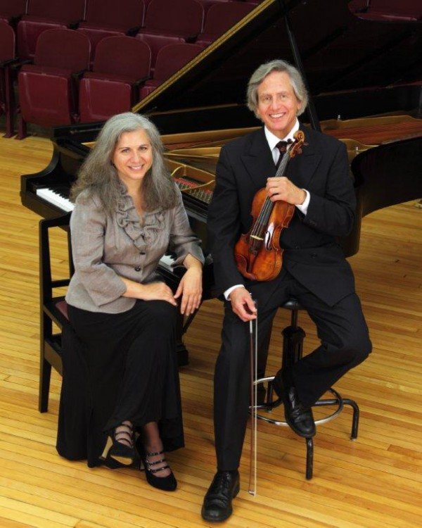 Violinist Ronald Lantz and pianist Laura Kargul will give a concert, Sunday, May 1, at First Church in Belfast.