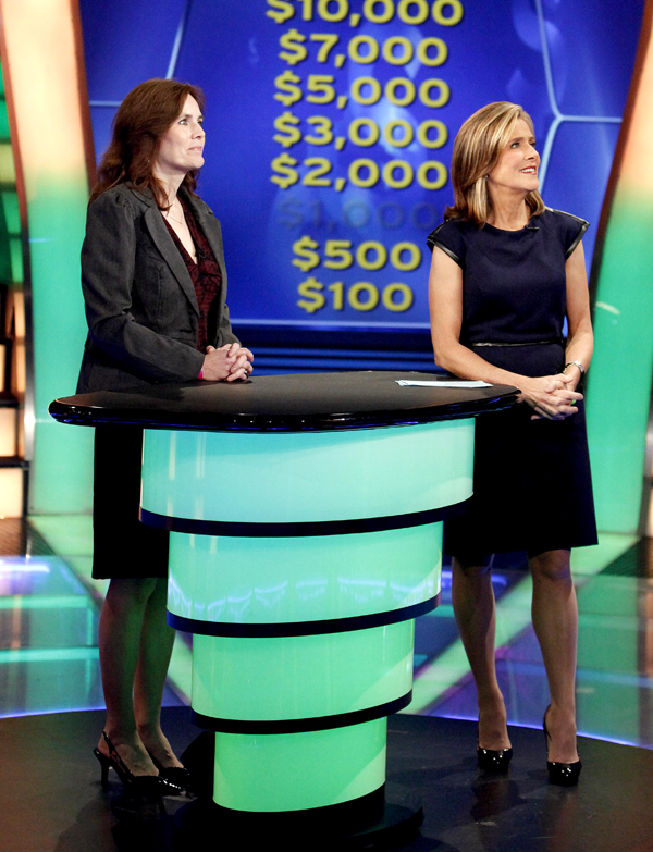 Billie Johnston (left) and show host Meredith Vieira.