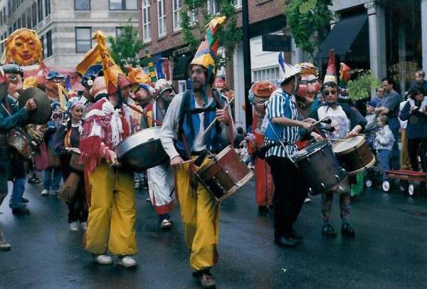 A fun, foot-powered parade kicks-off the Old Port Festival in Portland, Maine, each June.