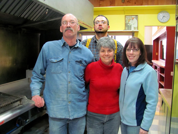A new restaurant opening soon on Main Street in Pittsfield is a family affair. The owners of the new venture are Robert and Kathleen Phelan, from left in front row, along with their son, Richard LeRose, back row, and his wife, Erin LeRose. The restaurant, Vittles, will draw on numerous cuisine styles from around the world.