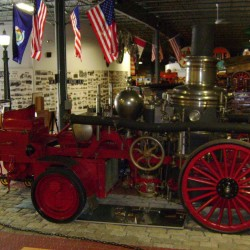Antique fire equipment seen at Bangor's Cole Museum
