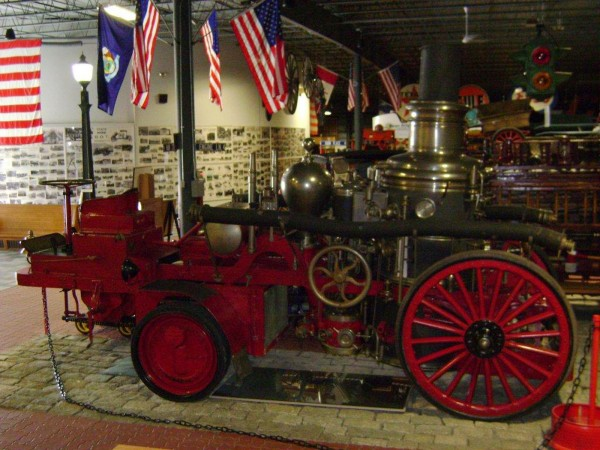 An Amoskeag steam pumper, similar to one the Portland Fire Department brought to Bangor to help fight the Great Fire of 1911, is owned by Cole Land Transportation Museum in Bangor. The museum will open its season on Saturday, April 30, a day earlier than usual, so that visitors may view its antique fire equipment and hear fire historian Michael Daicy talk about Portland?s participation in the fire.
