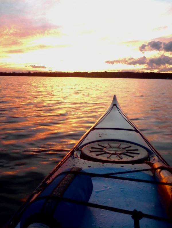The Sunsets over Pushaw Lake after an evening paddle.