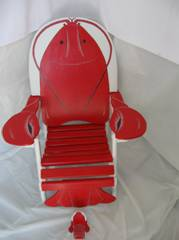 Lobster Adirondack painted by Bill and Barb Studebaker.