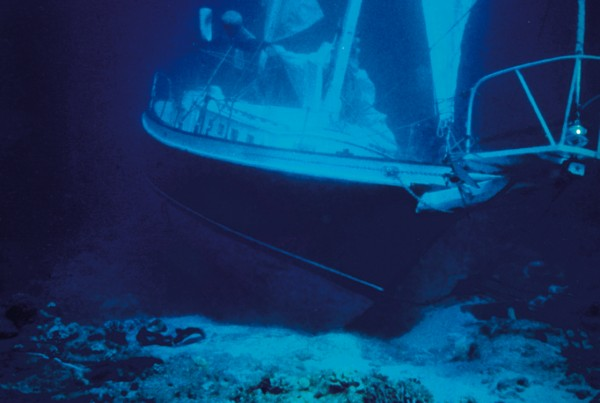 BoatUS says not all boat insurance policies cover a sinking, like this one off the coast of Hawaii.