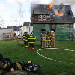 Firefighters battling big blaze at Winterport home