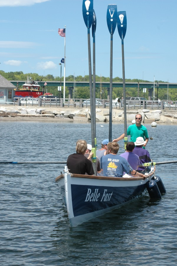 A row gets under way on Come Boating!'s Launch Day last year.
