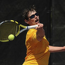 Caribou, Bapst tennis players advance