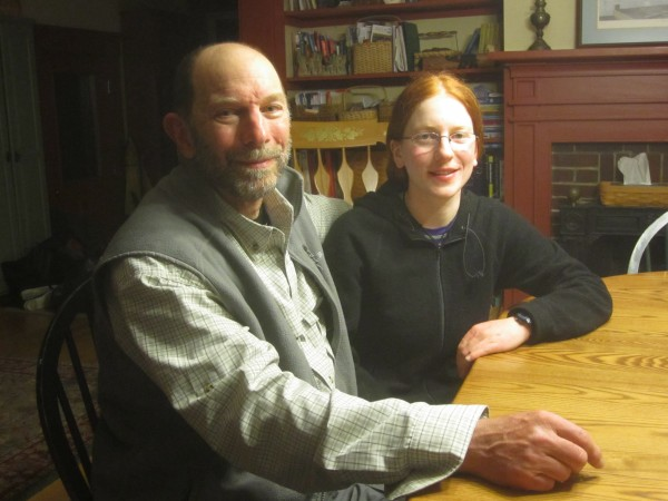 Becca and her dad, Robert