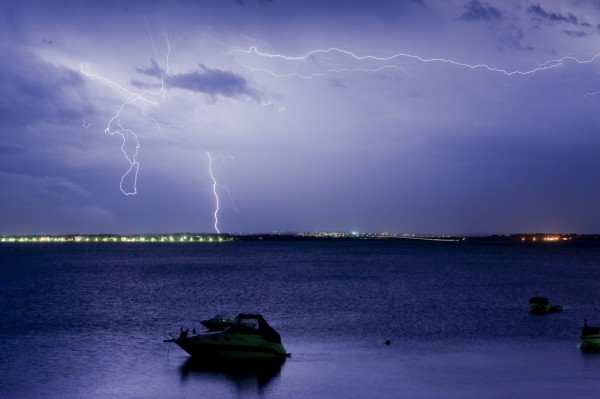 While lightning strikes are rare, boaters should take precautions when storms move in.
