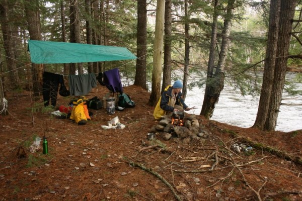 Camping along the river.