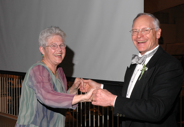 The Rev. Deborah McKean and the Rev. Dr. Philip F. McKean, Pen Bay Gala honorary chairpersons for 2011, dance at last year's Pen Bay Healthcare Foundation gala. Tickets for this year's gala on July 23 are now available for purchase.