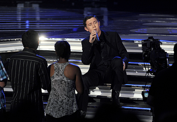 Scotty McCreery performs at the &quotAmerican Idol&quot finale on Wednesday in Los Angeles.