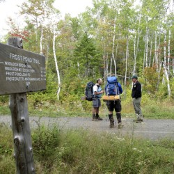 Women show off vintage finery on Mount Katahdin ascent