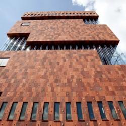 A general view of the MAS Museum in Antwerp, Belgium.