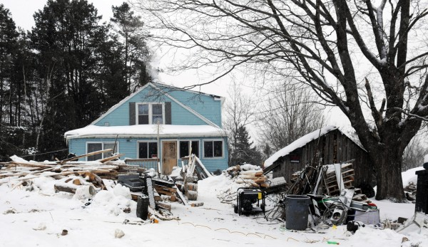 Marc Calcia's home on Fuller Road in Sorrento on Tuesday. Calcia, who lives on and maintains the property owned by his wife and  mother-in-law, is being investigated by the Maine DEP for violation of state environmental laws.