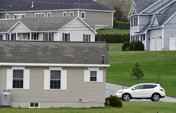 Homes on Lasalle Drive and Judson Blvd. in Bangor Thursday. The recent U.S. Census shows that Maine's home ownership percentage is higher than that of its neighboring states.