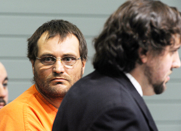 Arnold Diana looks toward the gallery during his initial appearance at Knox County Superior Court in Nov. 2010.