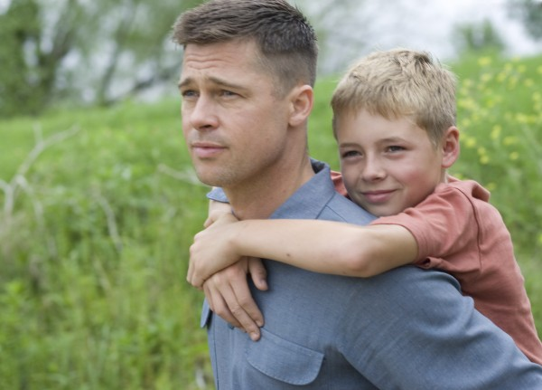 In this publicity image released by Fox Searchlight films, Brad Pitt, left, and Laramie Eppler are shown in a scene from &quotThe Tree of Life.&quot