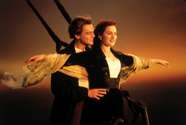 In this image released by Paramount Home Entertainment, Kate Winslet and Leonardo DiCaprio are shown in a scene from James Cameron's &quotTitanic.&quot