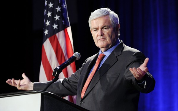 Newt Gingrich speaks to the Georgia Republican Party on May 13, 2011, in Macon, Ga.