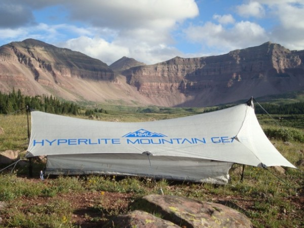 The Hyperlite Mountain Gear Echo I shelter weighs 1.31 pounds (1.48 pounds with guy lines). HMG, which specializes in ultralight outdoor gear, was founded by Mike St. Pierre and is based in Biddeford.