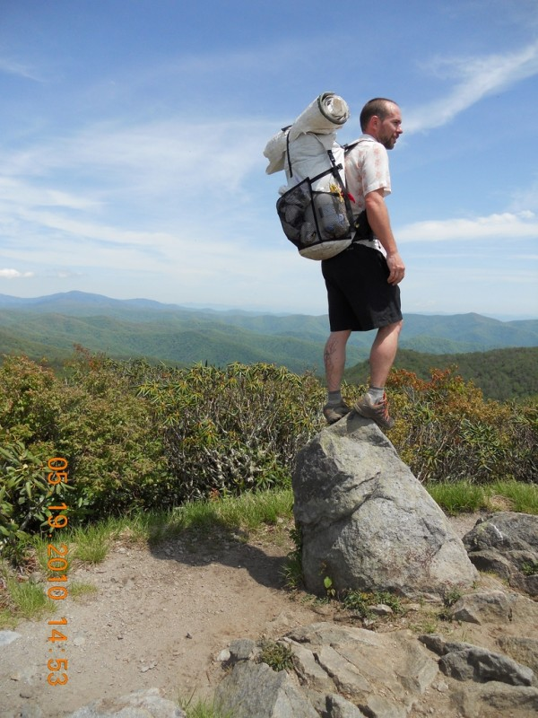 "Donald ""Bama"" Crook hikes the Appalachian Trail in 2010 with Hyperlite Mountain Gear. With the ultralight pack and shelter and careful packing, his load was lightened enough for him to complete the 2,181-mile trail in 92 days."