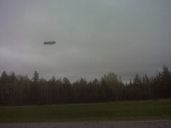A Hangar 1 Vodka blimp reportedly has been forced to make an unscheduled landing at Lincoln Regional Airport.