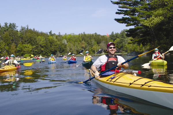 Participants raise money and paddle to support Pine Tree Camp, an amazing summer camp for Maine people with disabilities.