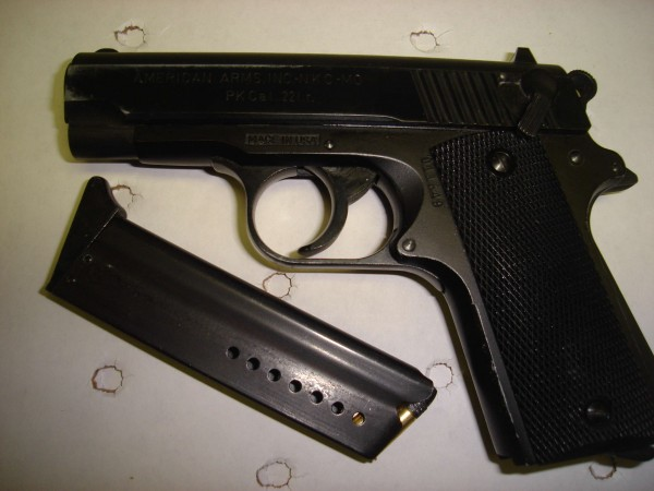 A handgun and magazine that belonged to Republican Rep. Frederick Ladd Wintle, charged Saturday, May 21, 2011, with criminal threatening with a dangerous weapon and carrying a concealed weapon.