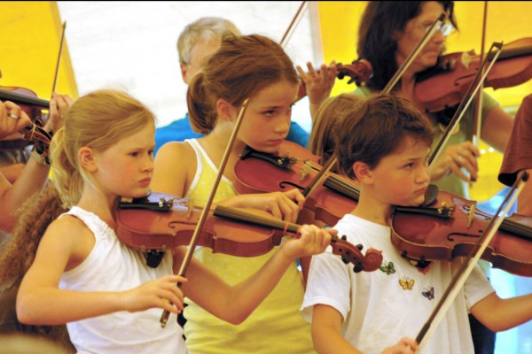 During the 2009 summer session, students fiddled the night awayat the  Maine Fiddle Camp in Montville.