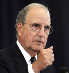 Science, long-term monitoring should guide environmental policy, George Mitchell says